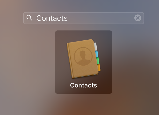 Contacts app on Mac