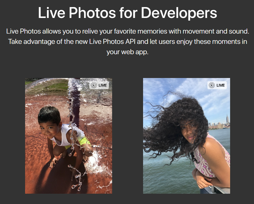 New Live Photos API Released to Add Web Support
