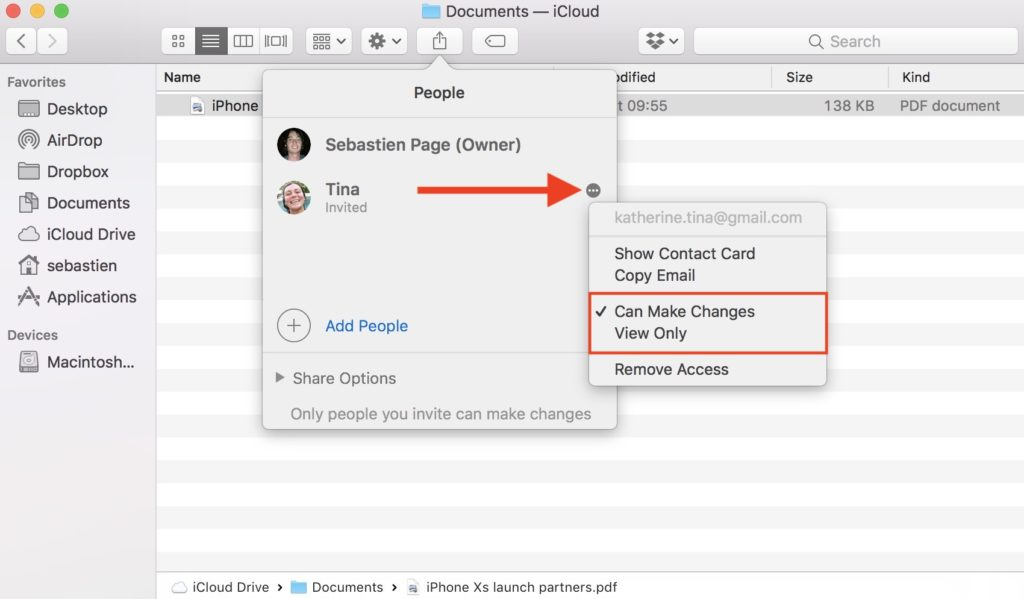 Mac How to Share Documents in iCloud Drive