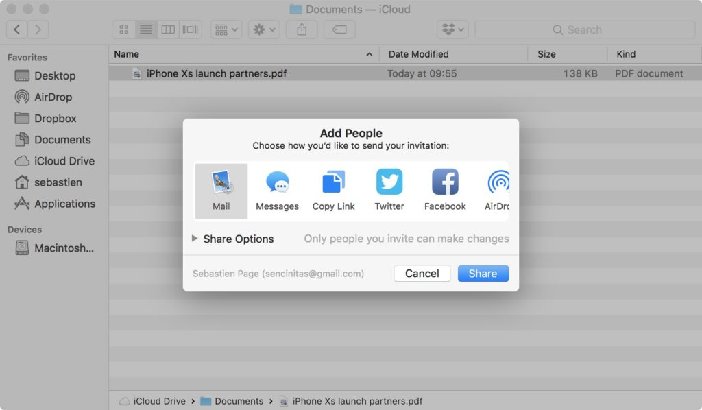 Mac: How to Share Documents in iCloud Drive