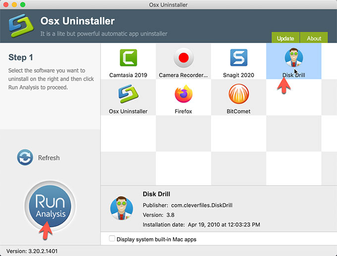 Uninstall Disk Drill with Osx Uninstaller