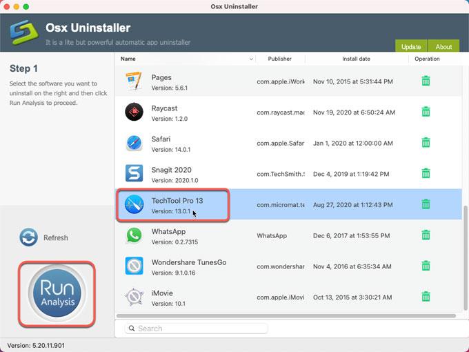 Uninstall Techtool Pro