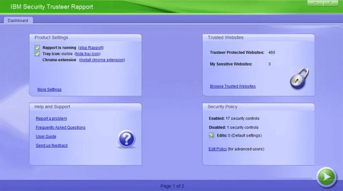 uninstall Trusteer Rapport