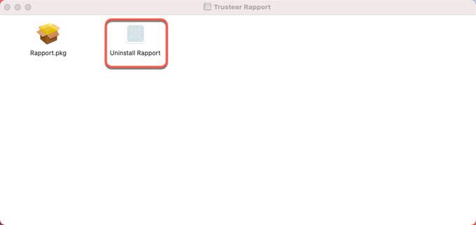 uninstall Rapport