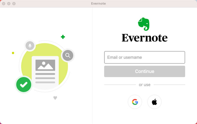Uninstall Evernote