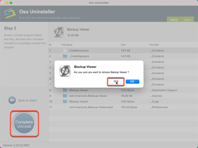 complete uninstall iBackup Viewer