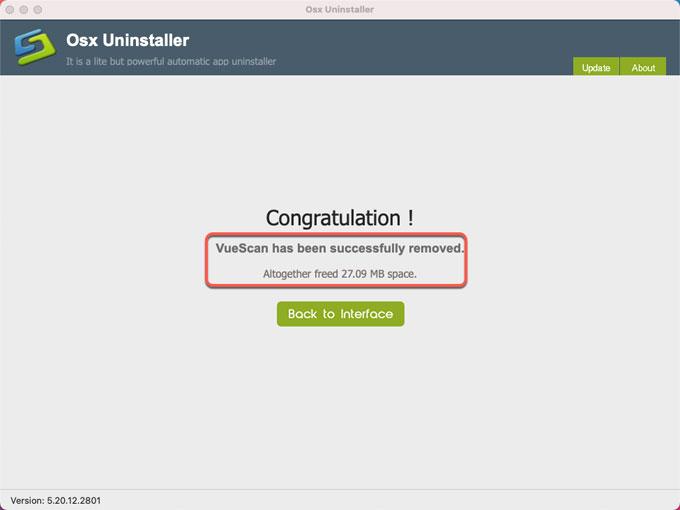 complete uninstall VueScan
